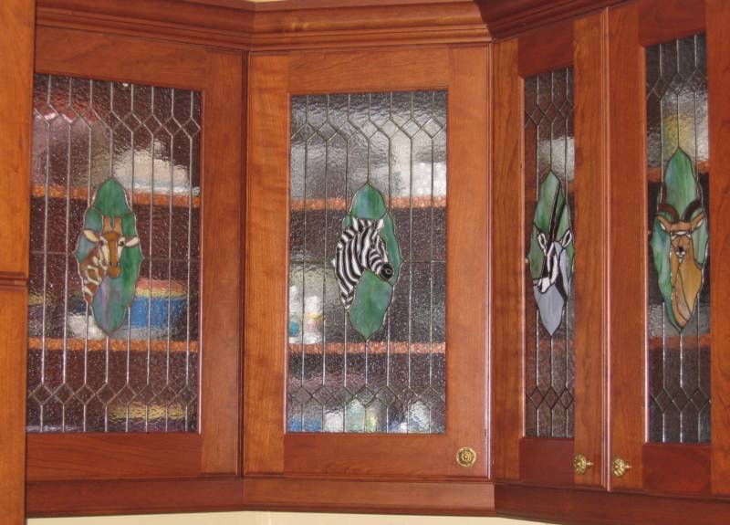 Custom ideas for Beveled glass kitchen cabinets